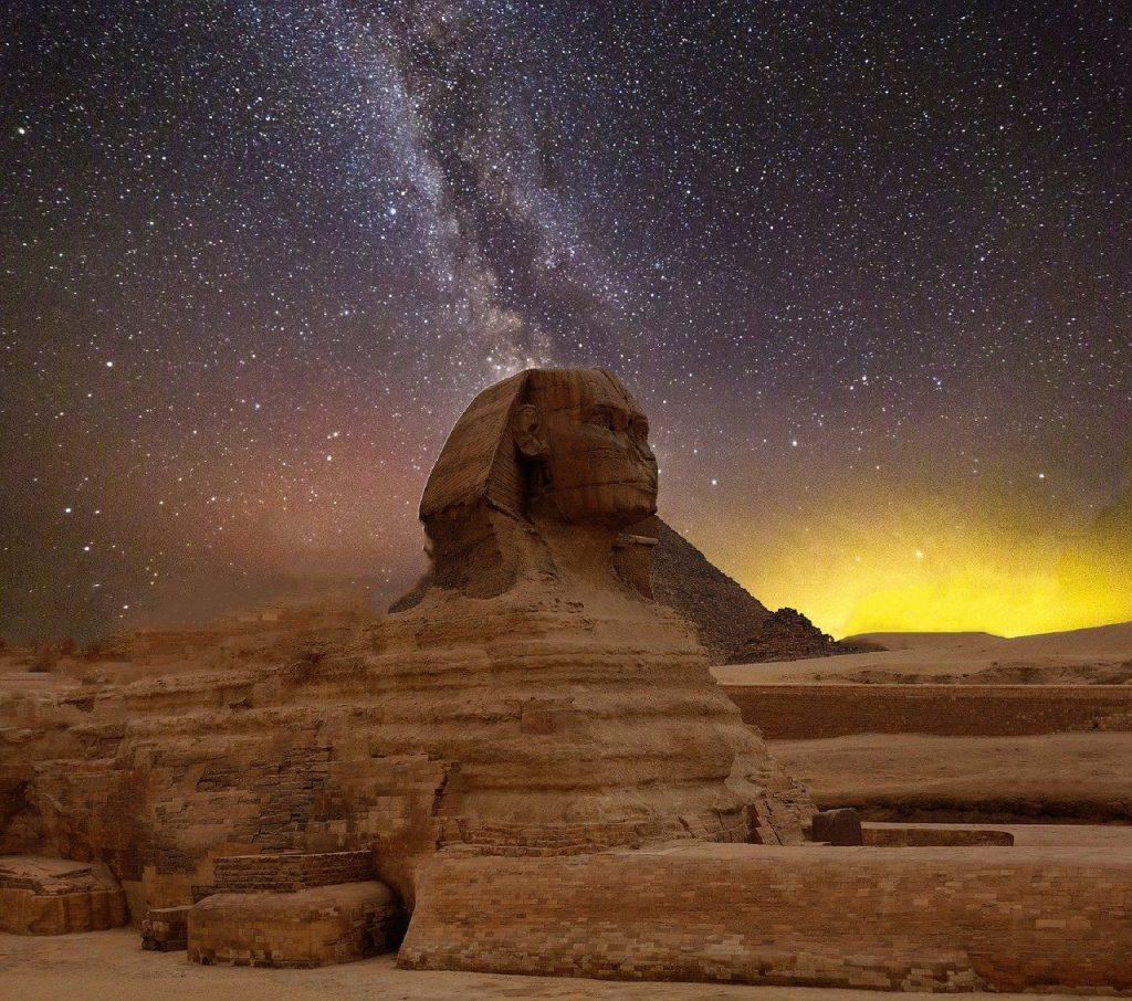 star-1096934 スター 夜の空 ピラミッド スフィンクス エジプト 満天の星空 空 気分 暗い 夕方の空